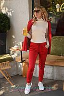 Женский трикотажный брючный костюм на каждый день с пиджаком 2mko188, фото 1