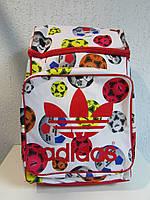 Рюкзак Adidas на белом фоне мячи 82452 код 386А