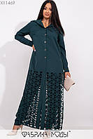 Женский брючный костюм в больших размерах с длинной рубашкой в пол 1mbr226, фото 1