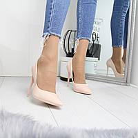 Женские туфли - лодочки с заостренным носком и шпилькой 74OB30