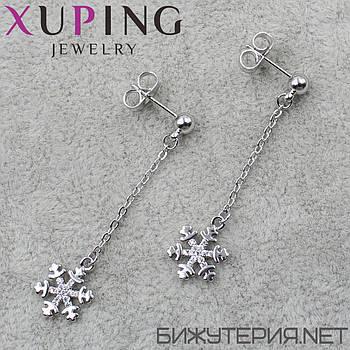 Серьги Xuping медицинское золото Silver - 1033894774