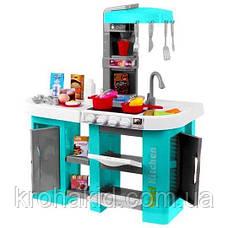 Игровой набор детская кухня Kitchen Set С КРАНА ТЕЧЕТ ВОДА, СО ЗВУКОМ И СВЕТОМ 922-46 на 53 предмета (Бирюза), фото 3
