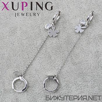 Серьги Xuping медицинское золото Silver - 1033896039
