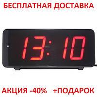 Часы настольные комнатные электронные с будильником LED -дисплей GREEN Original size