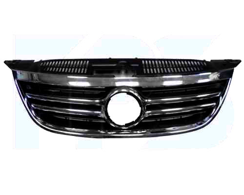 Решітка радіатора VW TIGUAN 07- хромована чорна (FPS). 5N0853651C2ZZ