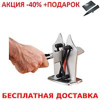 Ножеточка Bavarian Edge Knife Sharpener настольная точилка для ножей + нож- визитка