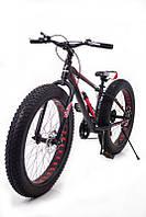 """Фэтбайк-горный велосипед """"S800 HAMMER EXTRIME"""" Колёса 24''х4,0. Алюминиевая рама 14'' Черно-Красный"""