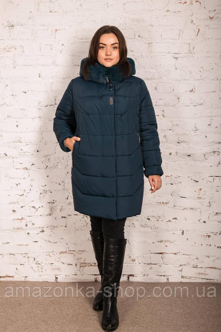 Женская куртка с экомехом на зиму сезон 2020 - (модель кт-630)