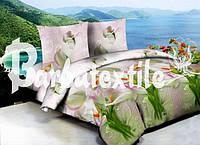 Семейное постельное белье 3Д Ранфорс - каллы
