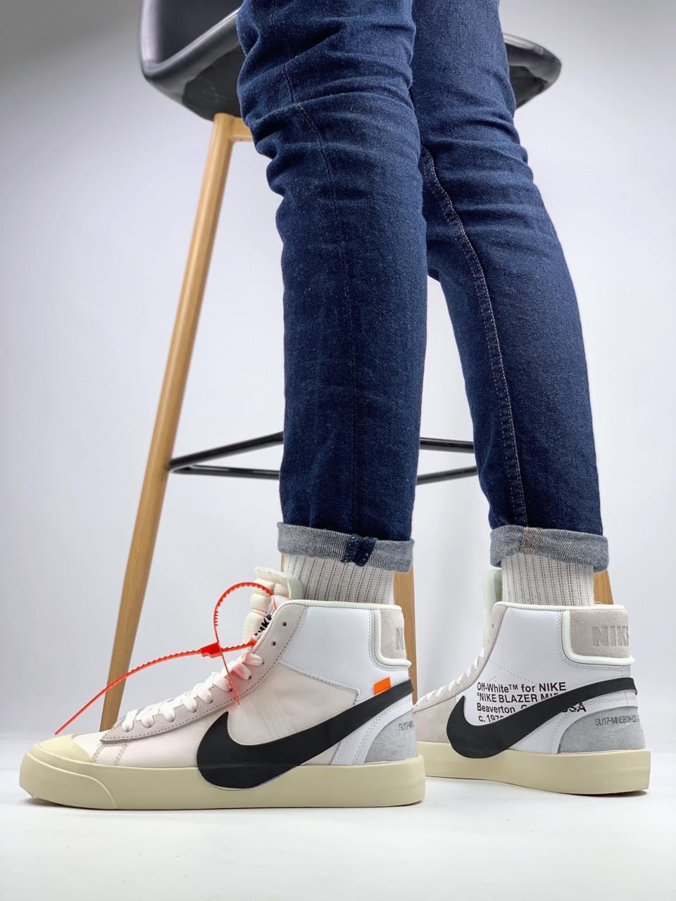 Мужские демисезонные кроссовки Nike Blazer Mid x Off White (41, 42, 43, 44, 45 размеры)