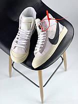 Мужские демисезонные кроссовки Nike Blazer Mid x Off White (41, 42, 43, 44, 45 размеры), фото 2