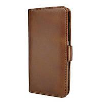 Чехол-книжка Leather Wallet для Huawei P30 Pro Коричневый