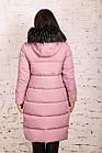 Удлиненное пальто для женщин на зиму с экопухом сезон 2020 - (модель кт-662), фото 4