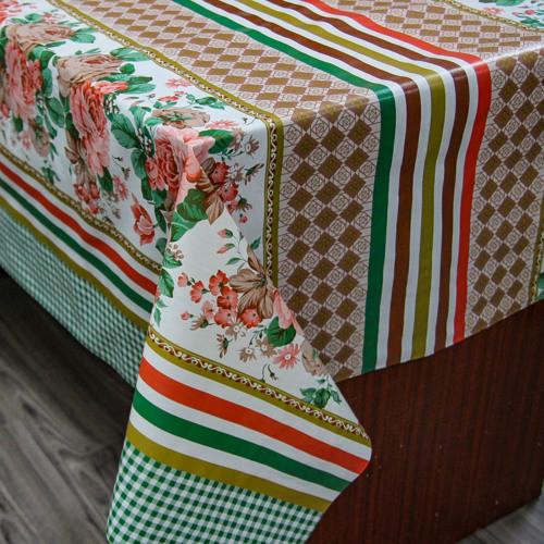 Клеенка на обеденный стол с основой ПВХ, оптовая продажа со склада