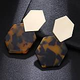 Модные геометрические серьги разных цветов, фото 6
