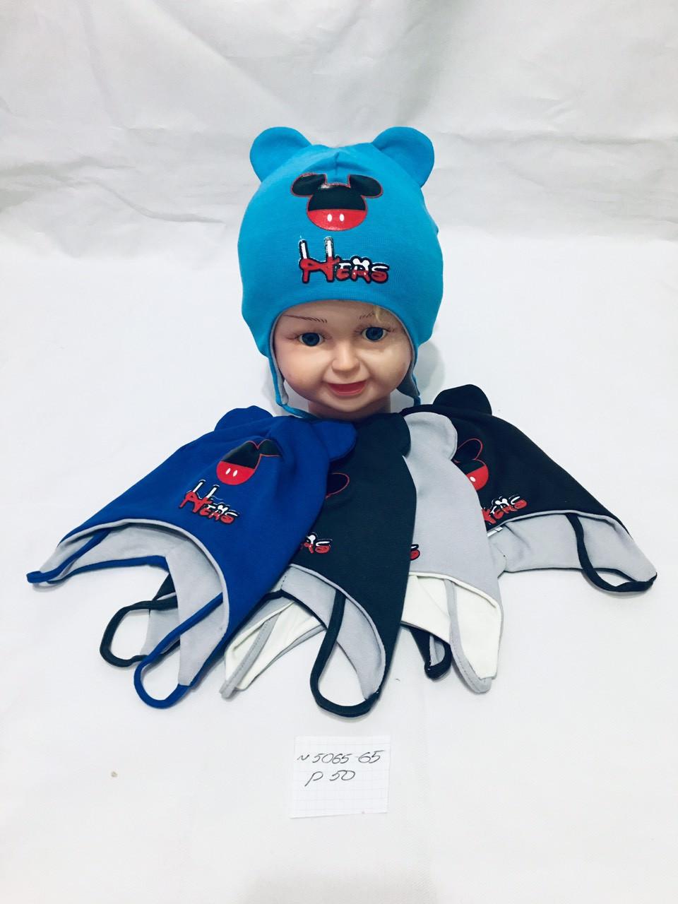 Детска шапка оптом для мальчика, флис, 50 р.