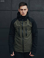 Куртка Staff softshell black and haki