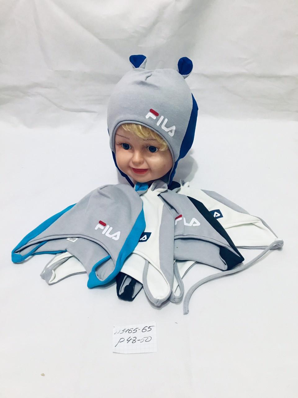 Детска шапка оптом для мальчика, флис, 48-50 р.