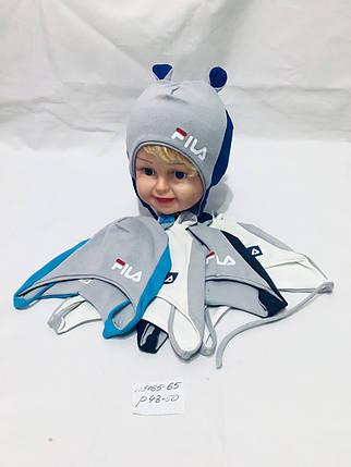 Детска шапка оптом для мальчика, флис, 48-50 р., фото 2