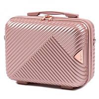 Кейс на чемодан , косметичка , саквояж , сумка на чемодан , сумочка (ручна поклажа) WINGS WN01 , ШАМПАНЬ