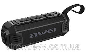 Колонка портативная Awei Y280 Original с ремнем FM USB с влагозащитой Черная