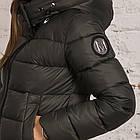 Удлиненное пальто для женщин на зиму с экопухом сезон 2020 - (модель кт-687), фото 3