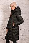 Удлиненное пальто для женщин на зиму с экопухом сезон 2020 - (модель кт-687), фото 2