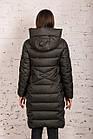 Удлиненное пальто для женщин на зиму с экопухом сезон 2020 - (модель кт-687), фото 4