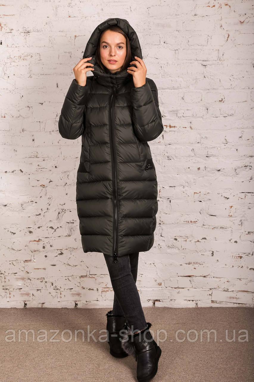 Удлиненное пальто для женщин на зиму с экопухом сезон 2020 - (модель кт-687)