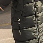 Удлиненное пальто для женщин на зиму с экопухом сезон 2020 - (модель кт-670), фото 4