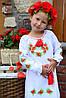 Вышитая одежда для девочки Платье - Туника для девочки Лен с хлопком