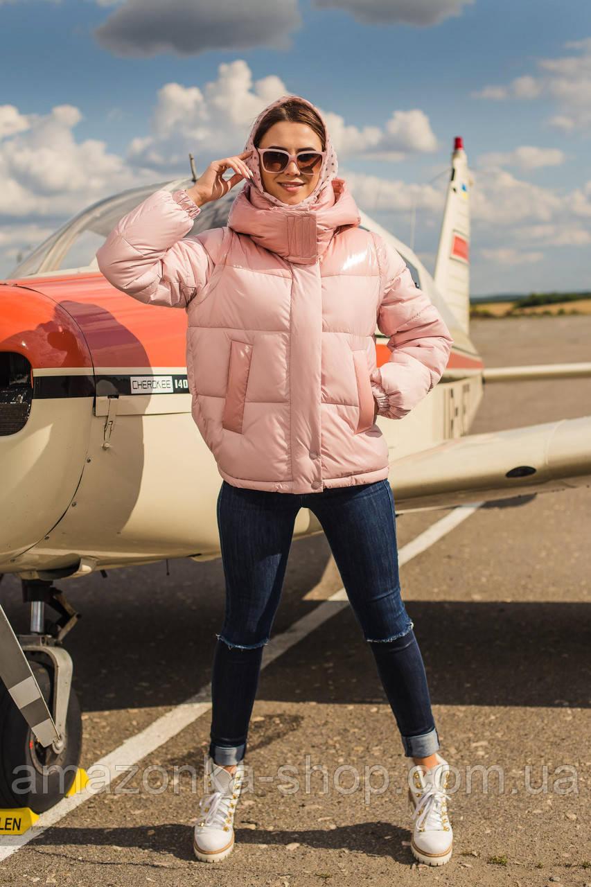 Куртка женская со съемными рукавами на зиму сезон 2020 - (модель кт-677)