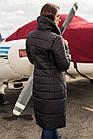 Женское удлиненное пальто на зиму сезон 2020 - (модель кт-489), фото 3