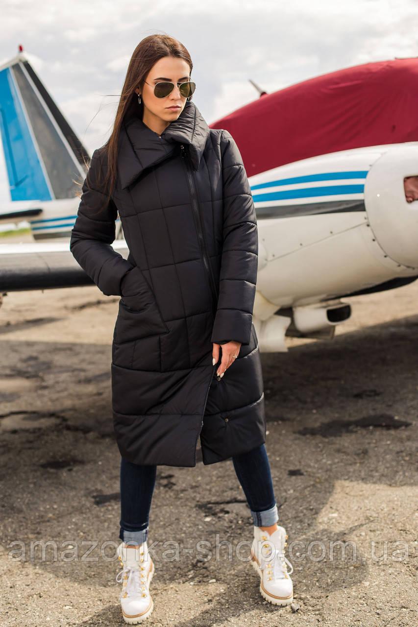 Женское удлиненное пальто на зиму сезон 2020 - (модель кт-489)