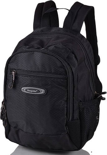 Практичный школьный рюкзак 20 л. Onepolar W1283-black черный