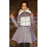 Женское зимнее пальто с пышной юбкой