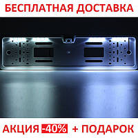 Универсальная рамка для номера с камерой заднего хода EU Car Plate Camera 16 LED Gray Original size