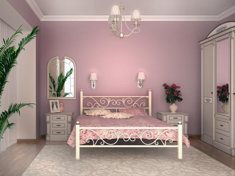 Металлическая кровать Глория ТМ Скамья