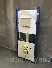 Инсталляция для подвесного унитаз Geberit Геберит 458.126.00.1 4 в 1 комплект с белой клавишей, фото 2