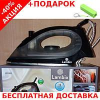 Паровой утюг Lambix LB1901-QT тефлоновая подошва 1600W Original size + powerbank 2600 mAh