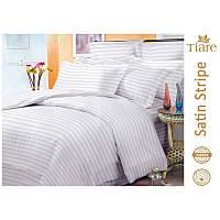 Постельное белье Комплект постельного белья Satin Stripe White-57