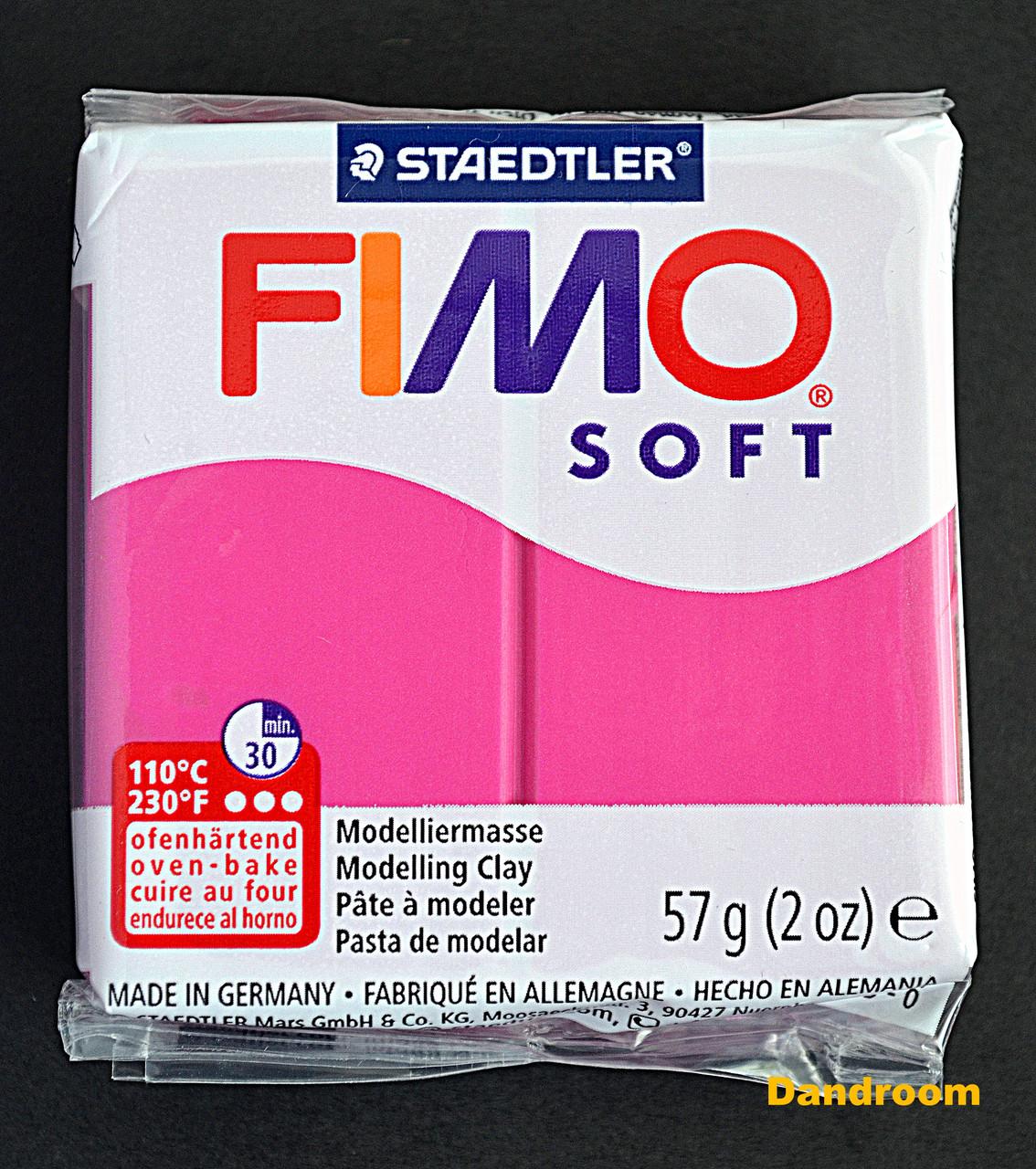 Пластика Soft, Малиновая, 57 г, Fimo
