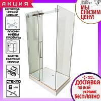 Прямоугольная душевая кабина 120х80 см Veronis KN-8-18 прозрачное стекло
