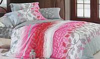 Постельное белье семейное  GOLD бело-розового цвета