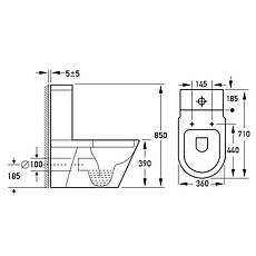 Унитаз напольный безободковый VolleNemo Rimless 13-17-377 сиденье твердое Slim slow-closing, фото 3