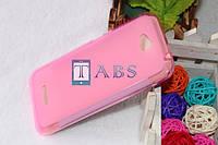 Чехол силиконовый TPU матовый HTC Desire 616 Dual Sim розовый