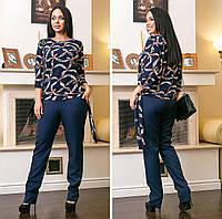 Костюм брюки с блузкой 669919 (48-62)