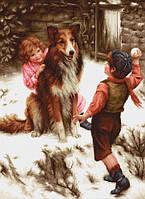 """Набор для вышивания крестиком (дети) """"Игра в снежки"""". Художник Артур Джон Элсли"""