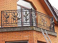 Балкон с кованым лыстям В4
