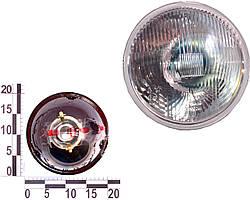 Фара ВАЗ 2101, 2102 левая=правая стекло+отражатель 12/24В (без подсветки) без экрана. 62.3711200-15 (ОСВАР)
